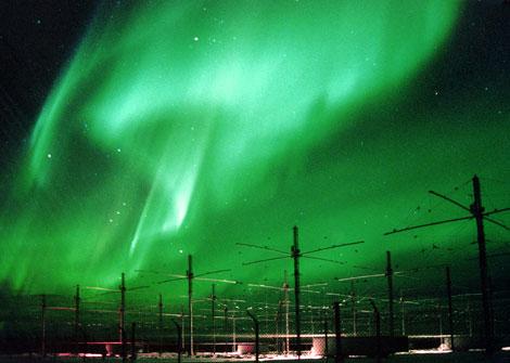 Auroras Boreales generadas con tecnología HAARP en a provincia de Hanan en China