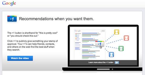 Funcionalidad +1 en Google sera integrada en busquedas en ingles
